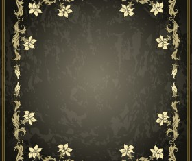 Vintage background with decor frame vectors 06