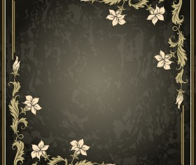 Vintage background with decor frame vectors 07