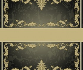 Vintage background with decor frame vectors 08
