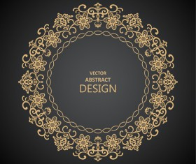 Vintage frame decor design vector 01
