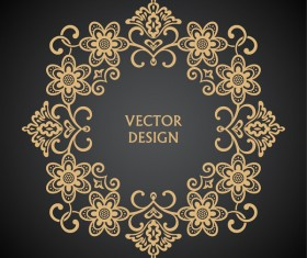 Vintage frame decor design vector 02