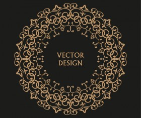 Vintage frame decor design vector 03