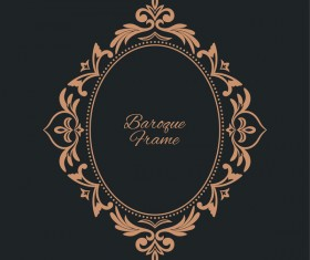 Vintage frame decor design vector 04