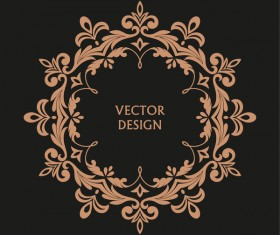 Vintage frame decor design vector 05