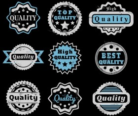Vintage high quality labels vector