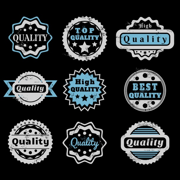 Vintage high quality labels vector