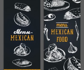 Vintage mexican food menu vectors