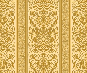 Vintage ornamental template with pattern vector