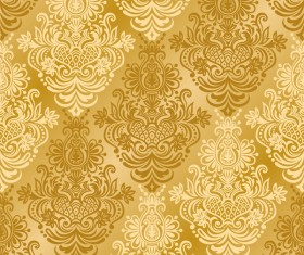 Vintage seamless background. Seamless wallpaper vector 01