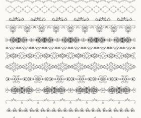 Vintage seamless calligraphic borders vector 02