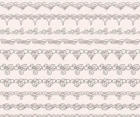 Vintage seamless calligraphic borders vector 03
