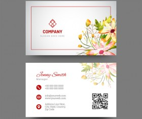 Water flower with company business card vector