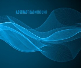 Wavy abstract wave background vector