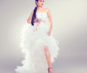Wearing wedding dress girl art photo Stock Photo 03