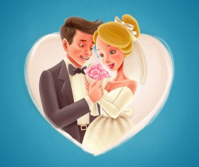 Wedding card design vectors 01