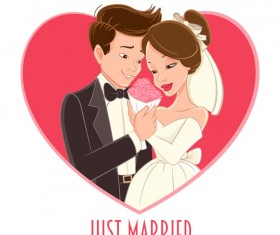 Wedding card design vectors 02