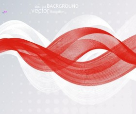 White with red wavy modern background vector