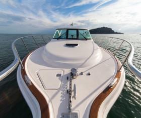 Yacht close-up Stock Photo