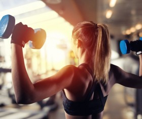 Young people who like fitness Stock Photo 01