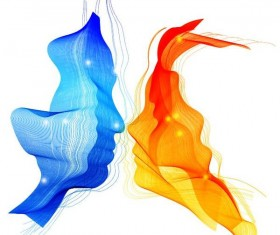 abstraction background with kiss vector