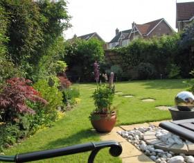 beautiful garden Stock Photo 09