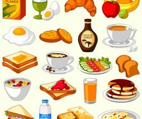 breakfast food vector material