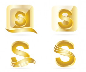 letters gold logo vector