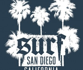 san diego surf vector design