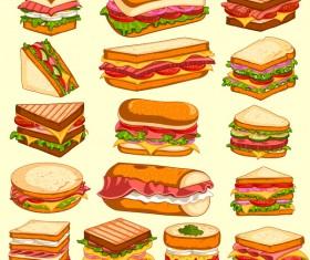 sandwich design vecrtor