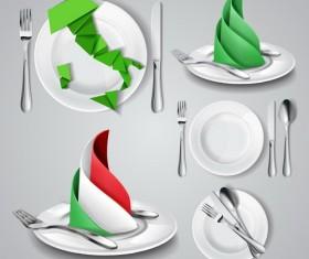 tableware vectors