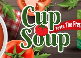 tomato cup soup ad poster template vector 02