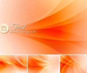 twist abstract background orange vector