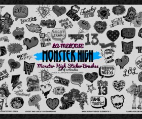 157 Kind Monster High Photoshop Brushes