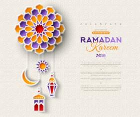 2018 Ramadan kareem festival vector material 01