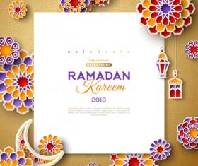 2018 Ramadan kareem festival vector material 02