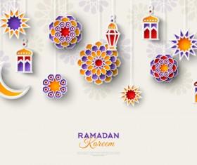 2018 Ramadan kareem festival vector material 03