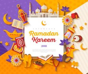 2018 Ramadan kareem festival vector material 04