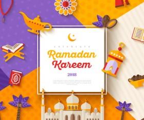 2018 Ramadan kareem festival vector material 05