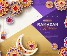 2018 Ramadan kareem festival vector material 06