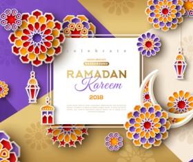 2018 Ramadan kareem festival vector material 07