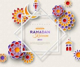 2018 Ramadan kareem festival vector material 09