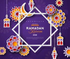 2018 Ramadan kareem festival vector material 10