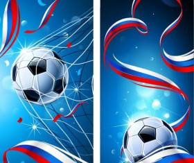 2018 russia soccer world cup vector banners