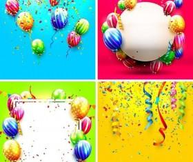 4 Kind birthday background vector