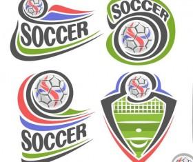 4 Kind soccer logos design vectors