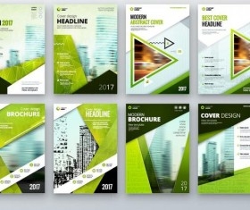8 Kind magazine with brochure cover template vector