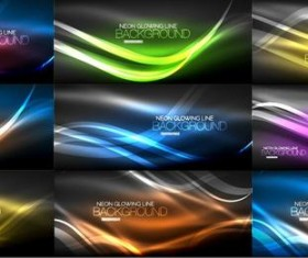 9 Kind color light abstract vector