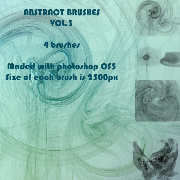 Abstract Fractal Photoshop Brushes