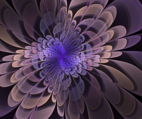 Abstract fractal flower Stock Photo 02