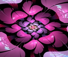 Abstract fractal flower Stock Photo 03